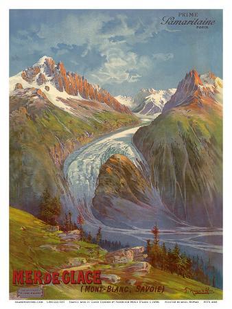 Mer de Glace (Sea of Ice) Glacier, Mont Blanc (Savoie) Alps, France, Prime Samaritaine Paris