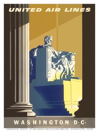 Washington D.C., President Lincoln Memorial, United Air Lines