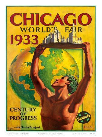 Chicago World's Fair 1933, Century of Progress, Santa Fe Railroad
