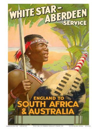 England to South Africa & Australia, White Star Line, Aberdeen Service