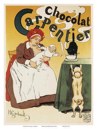 Chocolat Carpentier, Art Nouveau, La Belle Époque