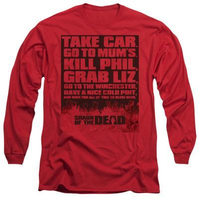 Long Sleeve: Shaun Of The Dead - List