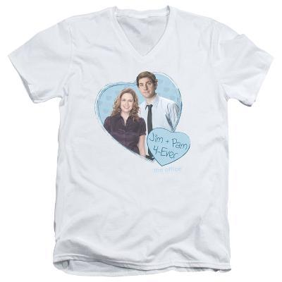 The Office - Jim & Pam 4 Ever V-Neck