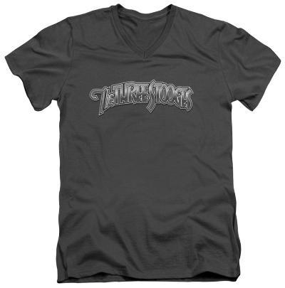 The Three Stooges - Metallic Logo V-Neck