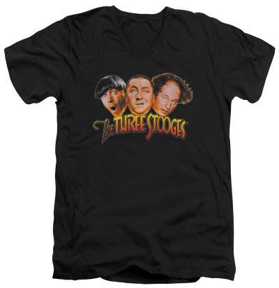 The Three Stooges - Three Head Logo V-Neck