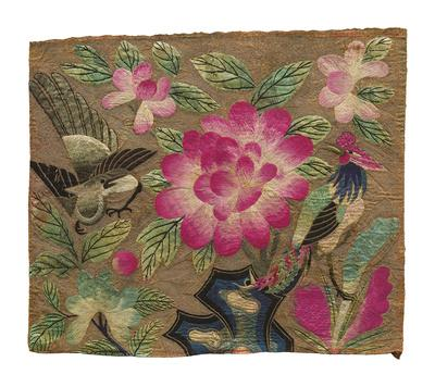 Cushion Cover, Pink Lotus and Birds