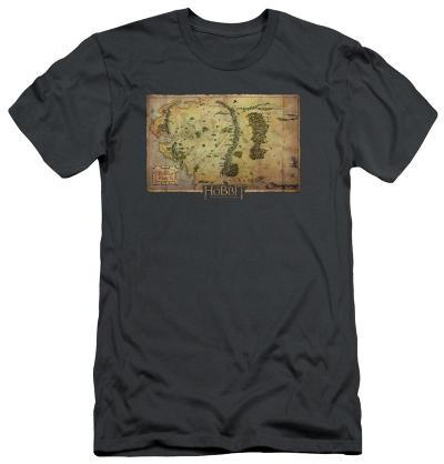 The Hobbit: An Unexpected Journey - Middle Earth Map (slim fit)