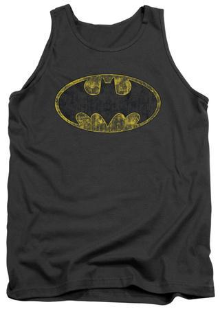 Tank Top: Batman - Tattered Logo