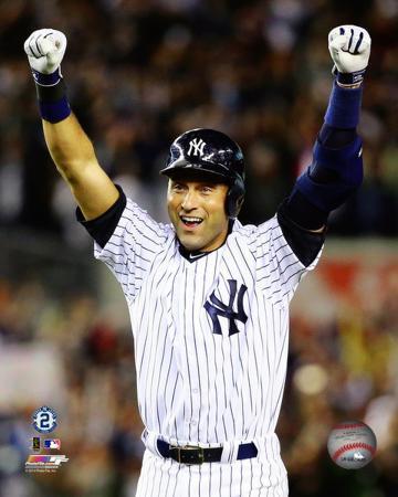 Derek Jeter Celebrates his Game Winning Walk-off Single Final Game at Yankee Stadium- September 25,