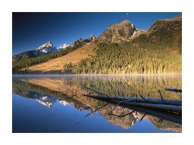 Teton Range reflecting in String Lake, Grand Teton National Park, Wyoming