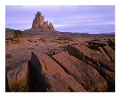 Agathla Peak, the basalt core of an extinct volcano, Monument Valley, Arizona