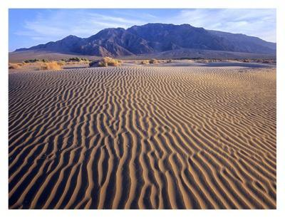 Tucki Mountain and Mesquite Flat Sand Dunes, Death Valley National Park, California