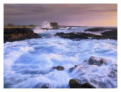 Waves and surf at Wawaloli Beach The Big Island, Hawaii