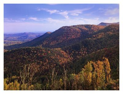 Blue Ridge Mountain Range near Cumberland Knob, North Carolina