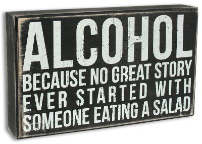 Alcohol Box Sign
