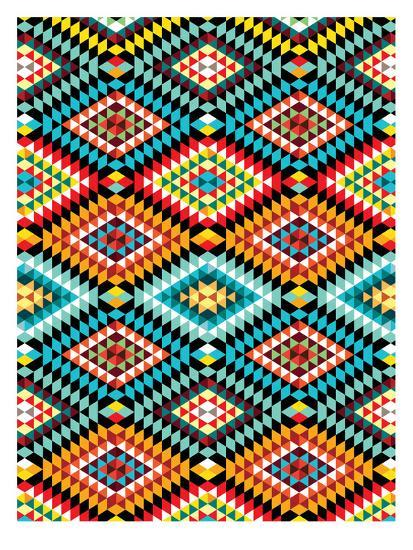 Tribal African Fabric Pattern Prints By Patricia Pino At