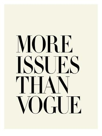 More Issues Than Vogue