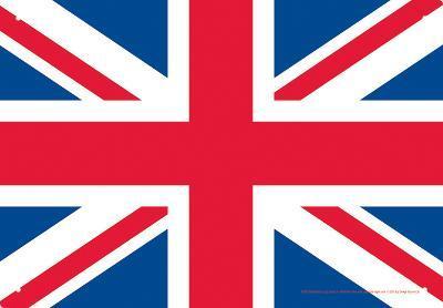 UK Flag Tin Sign