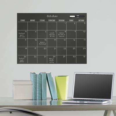 Black Dry Erase Calendar