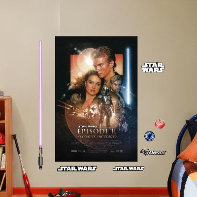Star Wars Episode II: Attack of the Clones Movie Poster Mural