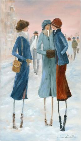 Three Ladies in the snow