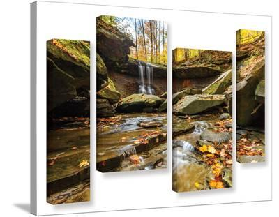 Blue Hen Falls 3, 4 Piece Gallery-Wrapped Canvas Staggered Set