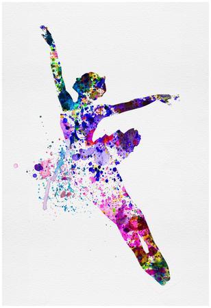 Flying Ballerina Watercolor 1