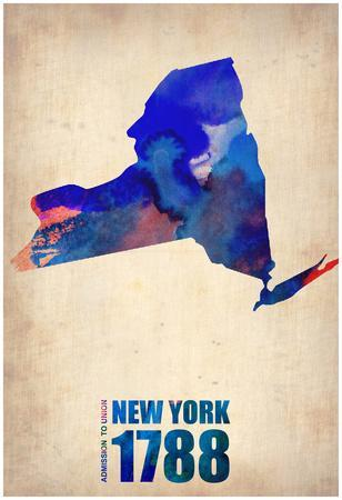 New York Watercolor Map