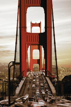 SF Golden Gate Bridge Sepiatone