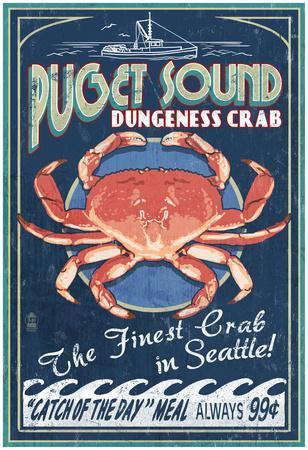 Seattle, Washington - Dungeness Crab