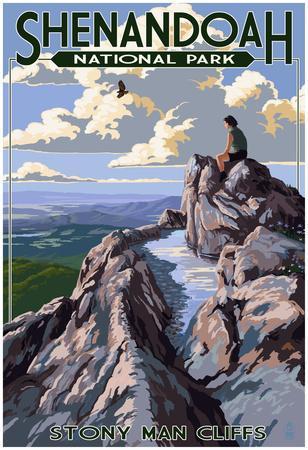 Shenandoah National Park, Virginia - StoNY Man Cliffs View