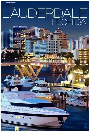 Ft. Lauderdale, Florida - Night Scene