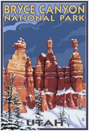 Bryce National Park, Utah, Winter Scene