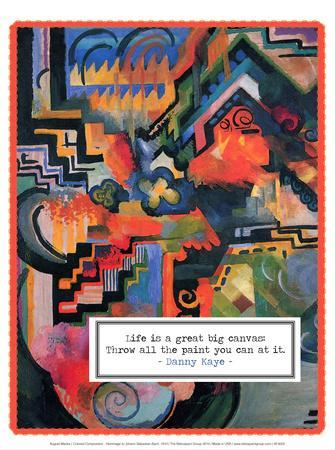 Colored Composition - Hommage to Johann Sebastian Bach, 1912