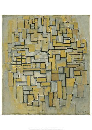 Composition in Brown and Gray (Gemälde no. II : Composition no. IX : Compositie 5), 1913