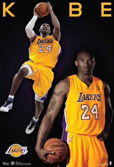 'Kobe Bryant Los Angeles Lakers Nba Sports Poster' Posters ...
