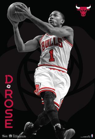 Derrick Rose Chicago Bulls Nba Sports Poster
