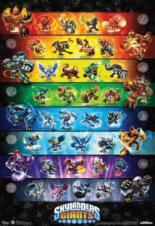 Skylanders Giants Group Video Game Poster