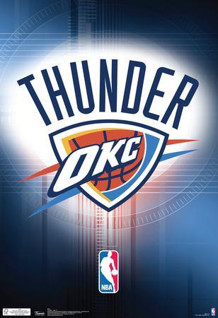 Oklahoma City Thunder Logo Nba Sports Poster