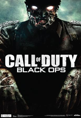 Call Of Duty Black Ops Zombie Video Game Poster