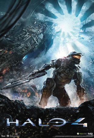 Halo 4 Key Art Video Game Poster
