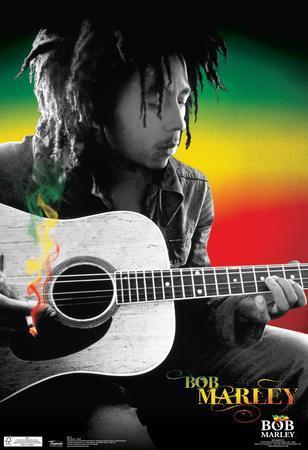Bob Marley Spliff Music Poster
