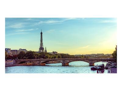 Eiffel Tower Seine River Paris