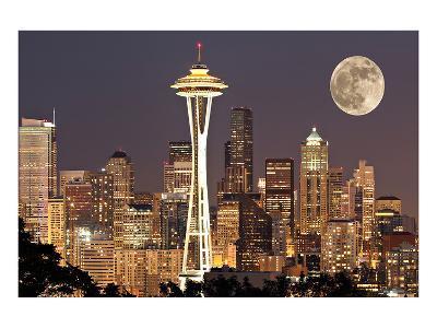 Lights on in Seattle Full Moon