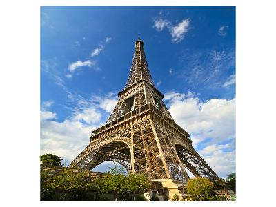 Eiffel Tower Paris Sunny Day