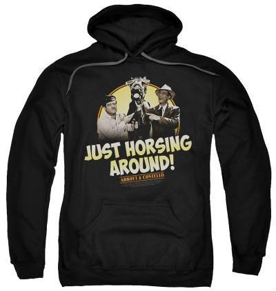 Hoodie: Abbott & Costello - Horsing Around