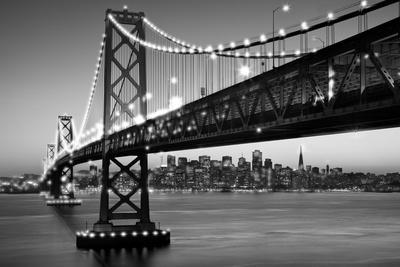SF Bay Bridge Black And White