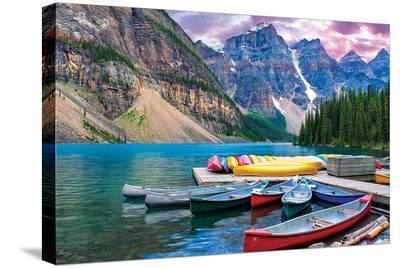 Lake Louise-Canoes on the Lake