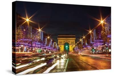 Bustling Paris at Night
