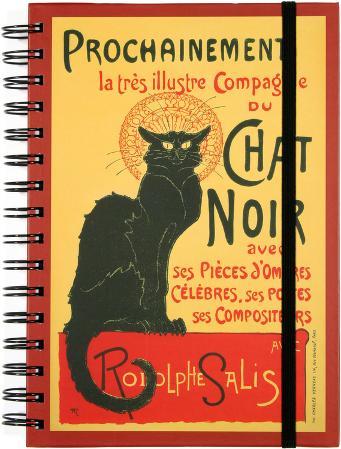 Chat Noir Spiral Journal